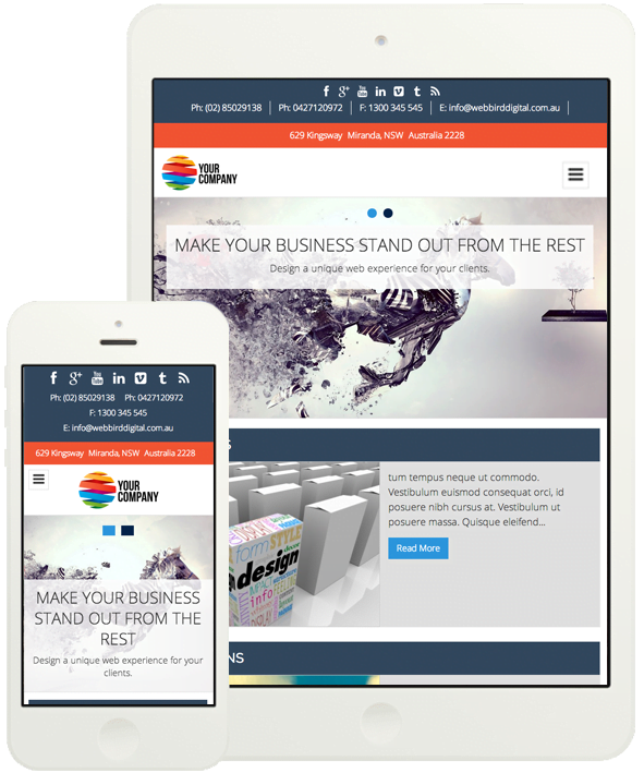 Our WordPress website package is optimised for desktop and mobile devices.